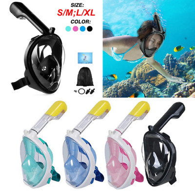 UK Swimming Scuba Snorkel Set Full Face Anti-Fog Diving Mask For Gopro Kid Adult