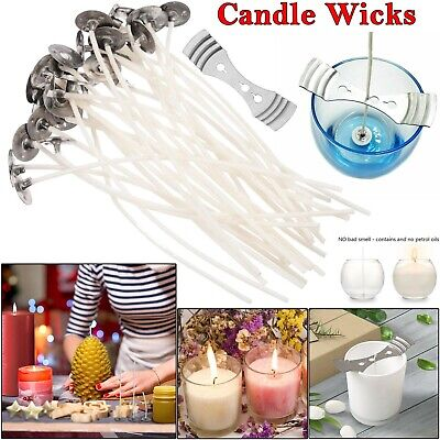 Pre Waxed Candle Wicks for Candle Making With Sustainers - 15cm Long UK