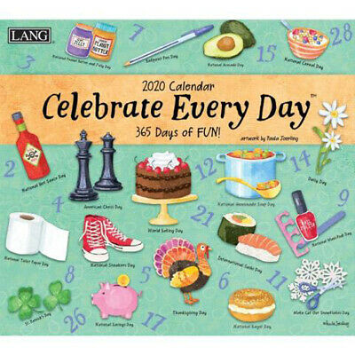 2020 Lang Calendar CELEBRATE EVERY DAY by Paula Joerling New Calender Fits Wa...