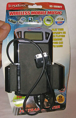Supersonic wireless mobile music FM Transmitter Used in working order