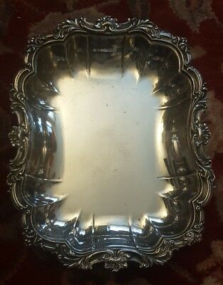 walker and hall silverplated dish tray antique