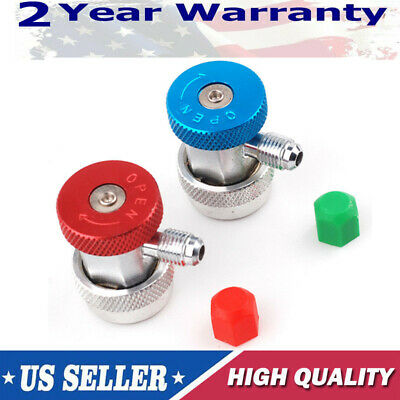 Air Condition Manifold Refrigerant Quick Coupler Adapters High /& Low R134A A//C