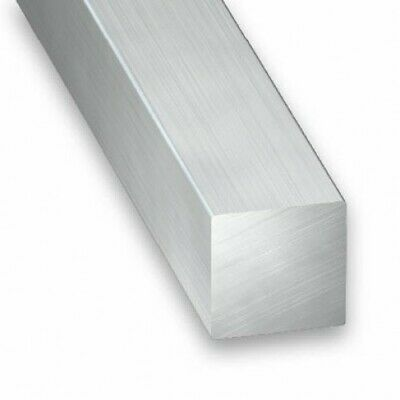 Raw Aluminium Solid Square Bar Rod - Various Sizes