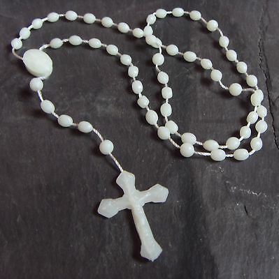 50 x PRISON ISSUE PLASTIC ROSARY BEADS  black blue pink white wholesale