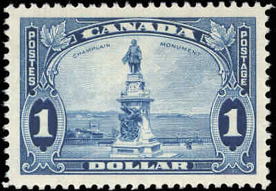 1935 Mint Canada VF Scott #227 $1 King George V Pictorial Stamp Hinged