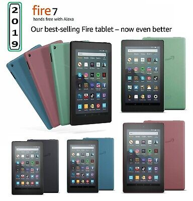 """Amazon Kindle Fire 7"""" Tablet (9th Gen) 16GB Wi-Fi With Alexa Fire OS 2019 Model"""