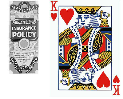 """Magicians Insurance Policy - Floyds Of Burnak - King Of Hearts 18"""" X 24"""""""