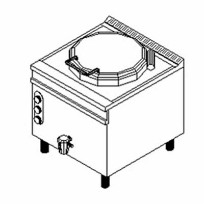 Fagor 900 Series Natural Gas 200 Litre Direct Boiling Pan MG9-20