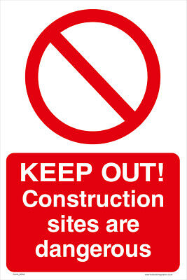KEEP OUT Construction Site sign - A4 - FREE DELIVERY - Meets UK HSE Regulations