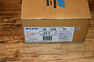 New Box of Sato 105 stickable Pricing Gun Labels - Yellow - 18000 FREE POSTAGE