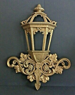 Homco Gold Lantern Hollywood Regency Wall Hanging French Provincial