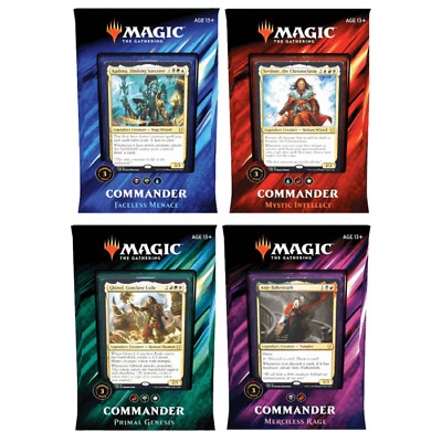 Magic The Gathering Commander 2019 Case Of 4 Decks Preorder New | 4 Decks /Order