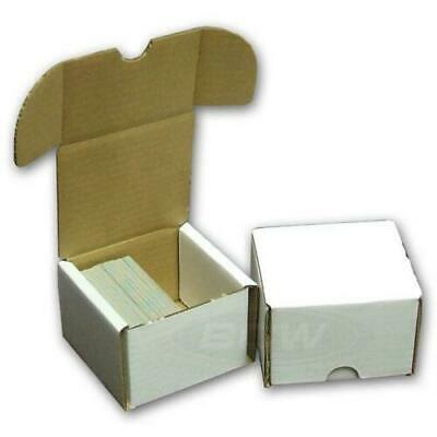 (5x) BCW 100 CT COUNT Corrugated Cardboard Storage Box-Sport Trading Card Boxes