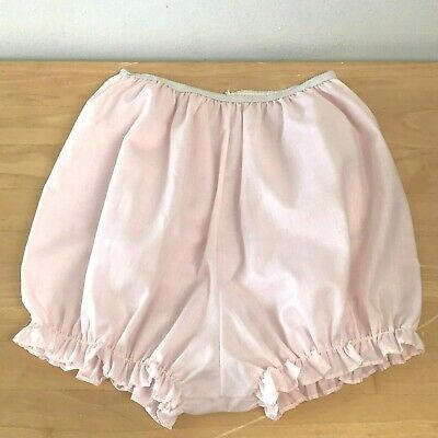 Vintage Pink Cotton Bloomers Bubble Granny Panties size S Unlined High Waist GD