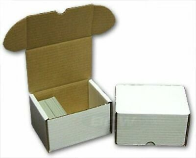 (2x) BCW 300 CT COUNT Corrugated Cardboard Storage Box-Sport Trading Card Boxes