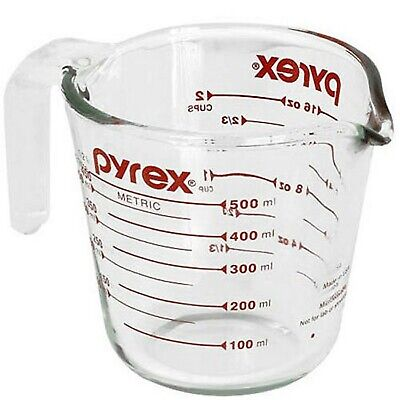 Pyrex Prepware 2-Cup Glass Measuring Cup 2 Cup Standard Packaging