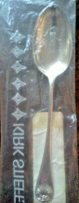 Kirk Stieff WILLIAMSBURG SHELL Sterling Silver TEASPOON ~ New In Package