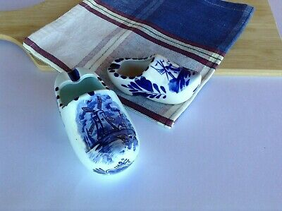 Delft Blue Clog Ashtray/Ornaments X 2 Different Sizes Hand Painted