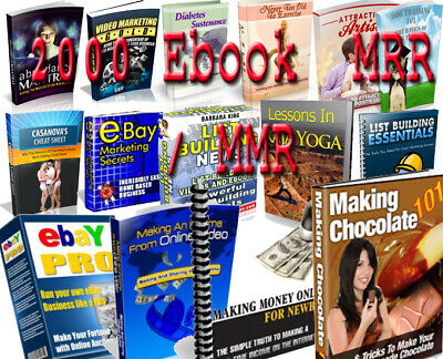 2000 eBooks Collection | PDF Format | With Master Resell Rights
