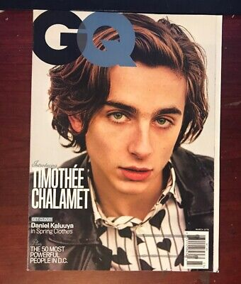 GQ MAGAZINE (March 2018) Introducing Timothee Chalamet