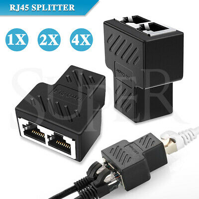 RJ45 Ethernet LAN Network Y Splitter Double Adapter Cable Connector CAT5/6/7
