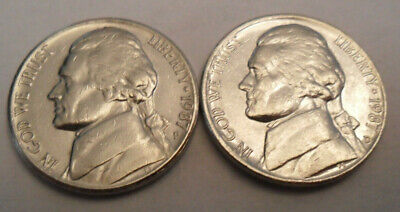 2004-P/&D UNCIRCULATED PEACE JEFFERSON NICKELS IN MINT SET CELLO