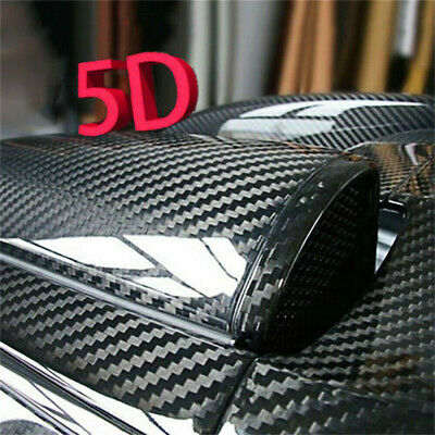 5 Diagonal Carbon Fibre Vinyl Wrap Sheet Film Sticker Car Wrap Decal Bubble Free