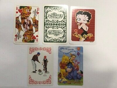 Vintage Playing Swap Trading Card Lot Muppets Norman Rockwell Betty Boop Pooh