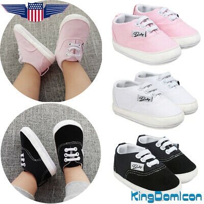 Toddlers Kids Cute Sneakers Infant Newborn Baby Boy Girl Soft Sole Crib Shoes US