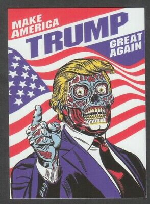 DONALD TRUMP Zombie Alien Cult Make America Great Again Custom Art Baseball Card
