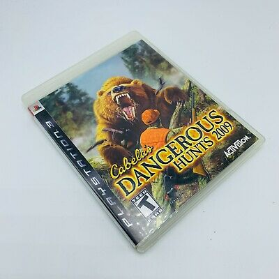 Cabela's Dangerous Hunts 2009 (Sony PlayStation 3, 2008) Complete & Tested
