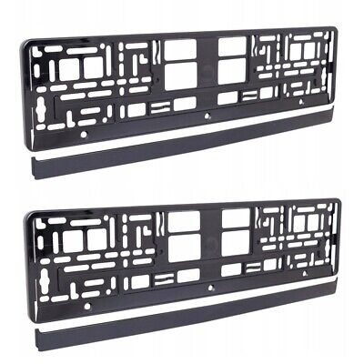 2 x Flexible Black Number Plate Holders Licence Plate Surrounds Frames UT