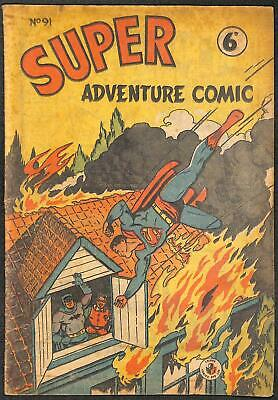 Super Adventure Comic #91 VG B&W Australian Reprint Edition (1950's)
