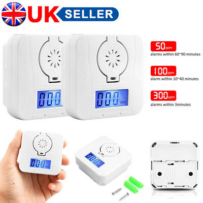 LCD-Carbon-Monoxide CO Detector Poisoning Gas Sensor Monitor Warning Alarm