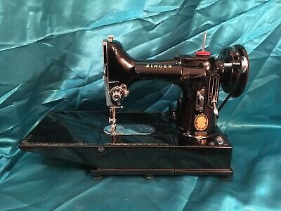 Singer Sewing Machine 222k Featherweight Made In Great Britain
