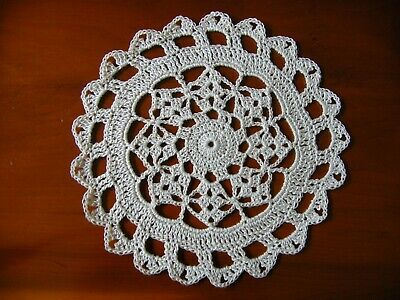 "White Crochet Cotton 7"" Doily / Coaster for Dreamcatcher or Porthole"