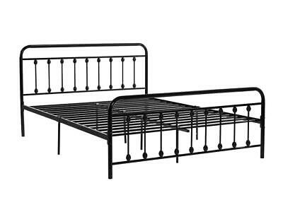 Terrific Classical 4Ft6 Double Size Metal Bed Frame In Color Black Onthecornerstone Fun Painted Chair Ideas Images Onthecornerstoneorg