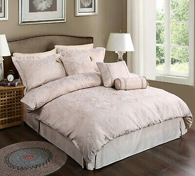 Luxury French Paisley Blush Pink Bed Linen Duvet Covers Curtains Throws Cushions