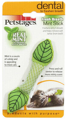 (CT009) Petstages Fresh Breath Mint Chew Stick Toy for Cats & Kittens