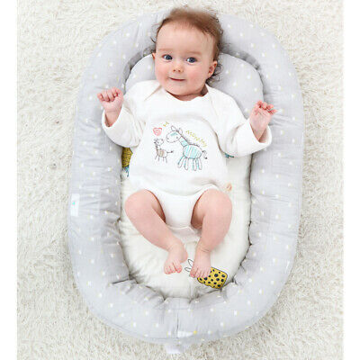 Soft Cotton Breathable Baby Lounger  Snuggle Nest Sleeping Bed for Infants