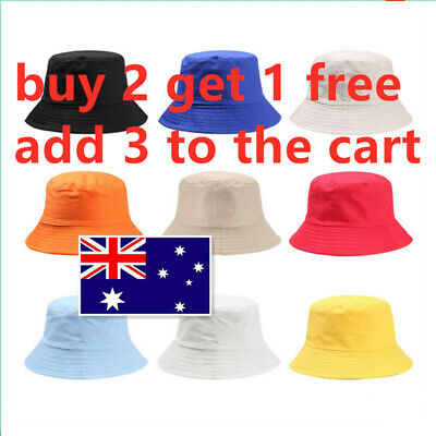 Children Girls  Cotton  Casual  Candy Color Fisherman Cap Bucket Hat Sun Caps
