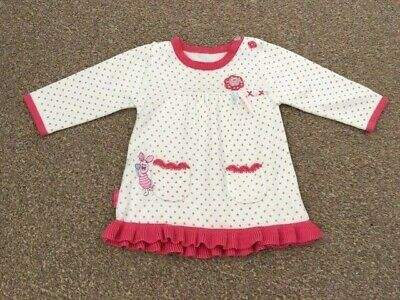 Baby Girls Disney George Piglet Cream Pink Spotty Long Sleeve Top 0-3 Months B60