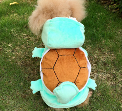 Pet Dog Cat Shirt Squirtle Pokemon Dress Costume Outfit Halloween Clothes UK