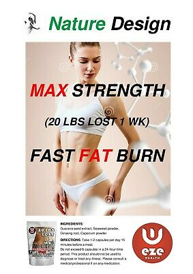 STRONGEST LEGAL WEIGHT LOSS PILLS  90 Pills - FAT BURNER SLIMMING Ex Belly Fat