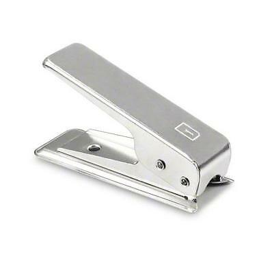 Nano Micro Sim Cutter For Apple Samsung Sony Genuine Terrapin Silver and Adapter