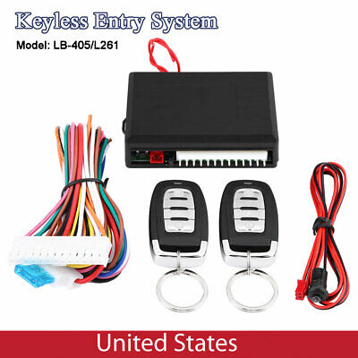 Car Keyless Entry System Door Lock Central Locking Remote Control Kit Universal