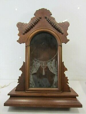 Antique Ingraham Clock Co. Gingerbread Style Wooden Clock Case Only