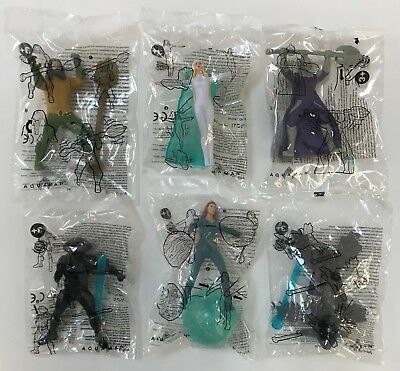 2018 Burger King DC Comics Warner Bros. AQUAMAN Toys Complete Set Of 6 Free Ship