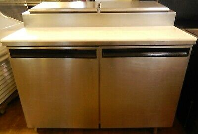 """REFRIGERATED PIZZA PREP TABLE 48"""" (on casters) by DELFIELD ~ 4248-PT"""