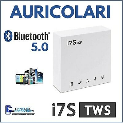 Coppia Auricolari Bluetooth Cuffie I7S Tws In Ear Wireless Senza Fili Wifi Sport